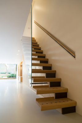 Oak Lined House London wood interior design by Knox Bhavan Architects LLP