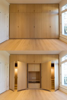 Oak Lined House London wood interior design