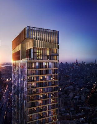 One Manhattan Square New York City Skyscape Collection building design