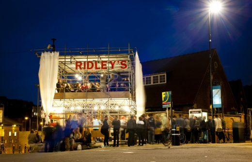 Ridley's Temporary Restaurant. Ridley Road Market. London