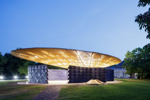 Serpentine Pavilion 2017 by Francis Kéré Architect in Kensington Gardens London