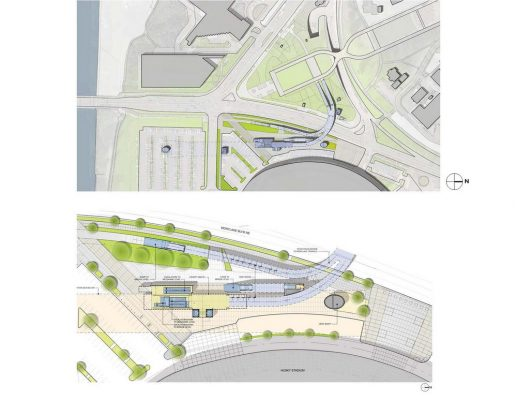 University of Washington Link Station for Sound Transit building location plan