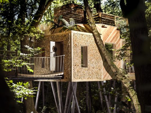 Woodsman's Treehouse in West Dorset, England