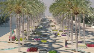100 Palm Trees Square in Rhodes, Greece