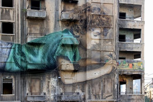 Bachoura Building Art in Beirut