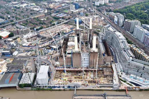 Battersea Power Station building in London
