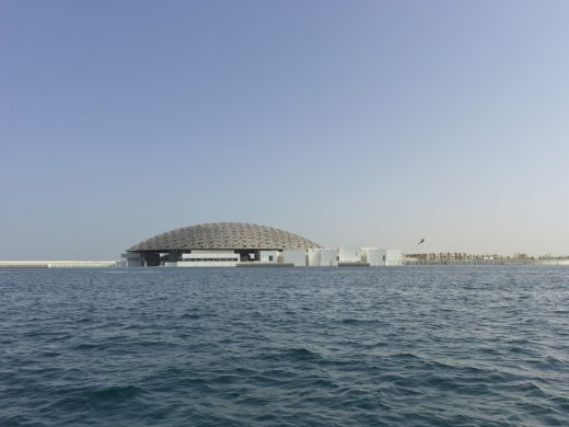 Louvre Abu Dhabi Museum Building from Gulf