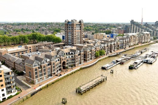 Plantation Wharf properties in South West London on River Thames