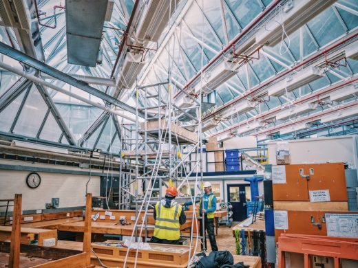 University of Leicester Engineering Building roof