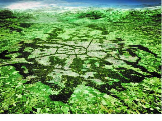 Milan forest proposal aerial image
