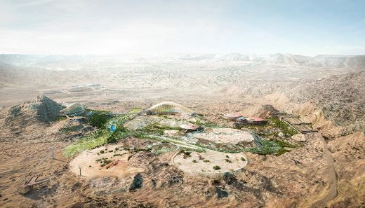 Oman Botanic Garden Aerial view design by Grimshaw Architects