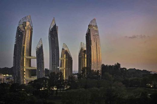 Reflections at Keppel Bay design by Studio Daniel Libeskind Architects