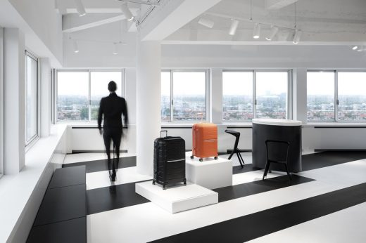Samsonite Showroom in Amsterdam retail interior