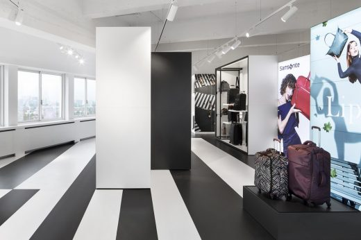 Samsonite Showroom in Amsterdam by i29 interior architects