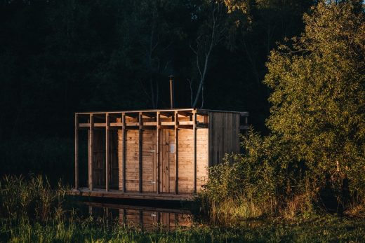 VALA Floating Sauna in Soomaa Forests Estonia