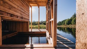 Floating Sauna Soomaa Forest