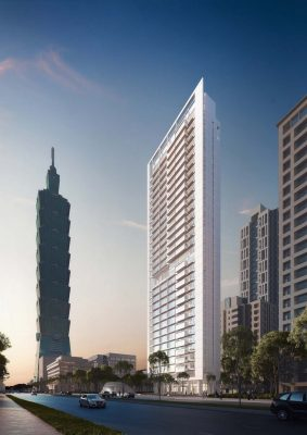 CDC Xin-Yi Residential Tower building by Richard Meier & Partners in Taipei