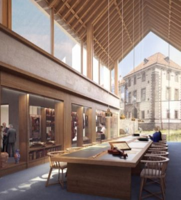 Nelahozeves Castle Library and Research Centre by Prague Architect