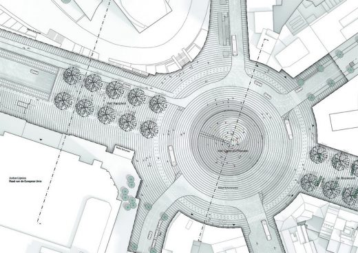 Place Schuman Brussels roundabout plan