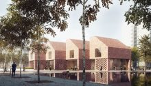 Southmere Village Library building design by RRA