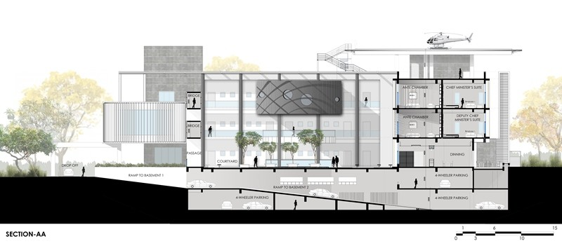 Pune government guest house 2 e architect for Architecture design for home in pune