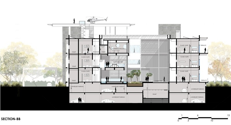 Pune government guest house 5 e architect for Architecture design for home in pune
