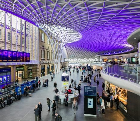 King's Cross station concourse funnel