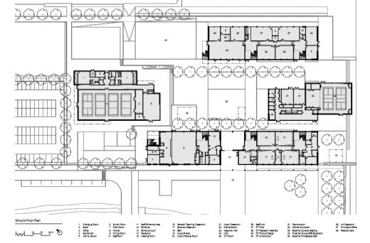 Mill Chase Academy Secondary School ground floor plan