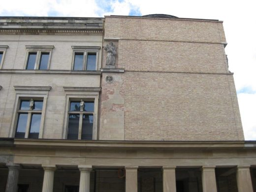 Neues Museum Berlin building facade junction