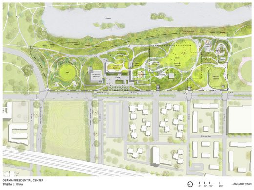 Obama Presidential Center Chicago plan layout