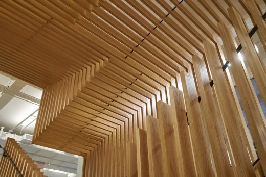 Pinterest NY, New York timber building interior