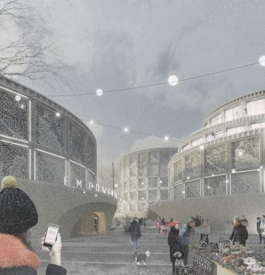 RIBA Gasholder Bases Ideas Competition shortlisted design by Jan Verhagen & Priscille Rodriguez