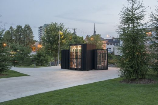 Story Pod, Newmarket, Ontario wooden building