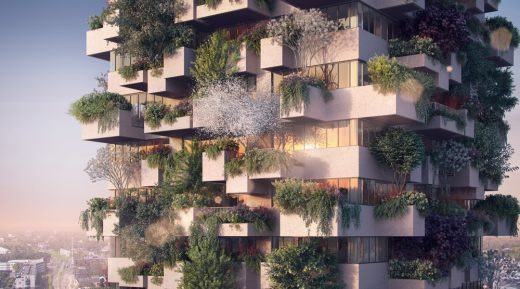 The Trudo Vertical Forest of Eindhoven by Stefano Boeri Architetti facade