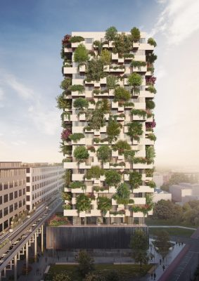 The Trudo Vertical Forest of Eindhoven building facade