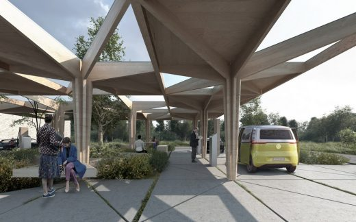 Danish Architecture - Ultra Fast Charging Stations by COBE