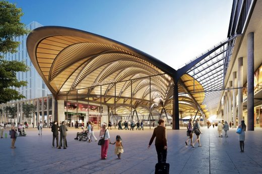 New HS2 Terminus Euston Station entrance canopy
