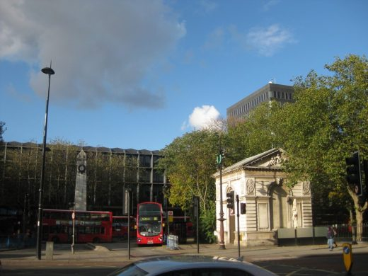 Euston Station London south facade