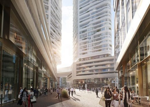 FOUR Frankfurt Towers by UNStudio + HPP Architects