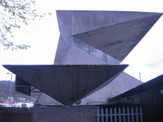 Peter Womersley Galashiels Scottish Borders Concrete Building