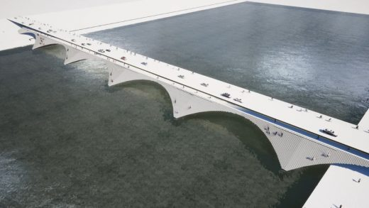 Kalix River Bridge by Erik Andersson Architects