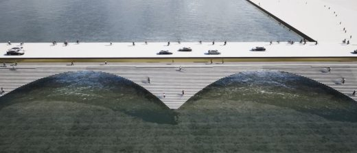 Kalix River Bridge design by Erik Andersson Architects