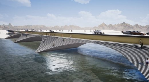 Kalix River Bridge design proposal by Erik Andersson Architects - Swedish Architecture News