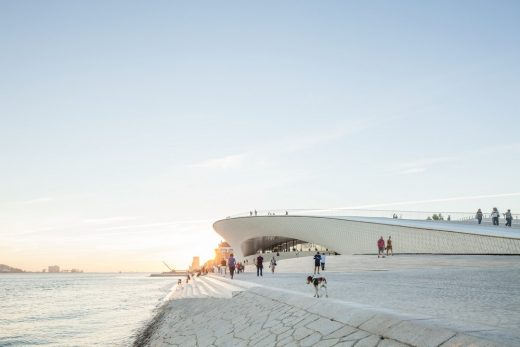 Museum of Art, Architecture and Technology in Lisbon from beach