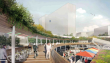 Old Street Roundabout Competition proposal by Nicholas Hare Architects