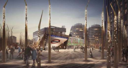 Old Street Roundabout Competition design by Hawkins/Brown