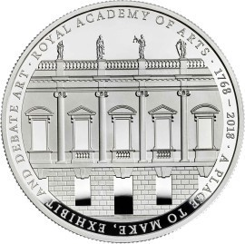Royal Academy of Arts Coin by architect David Chipperfield
