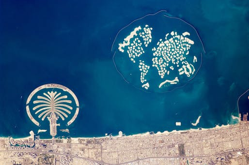 The World Dubai islands aerial view