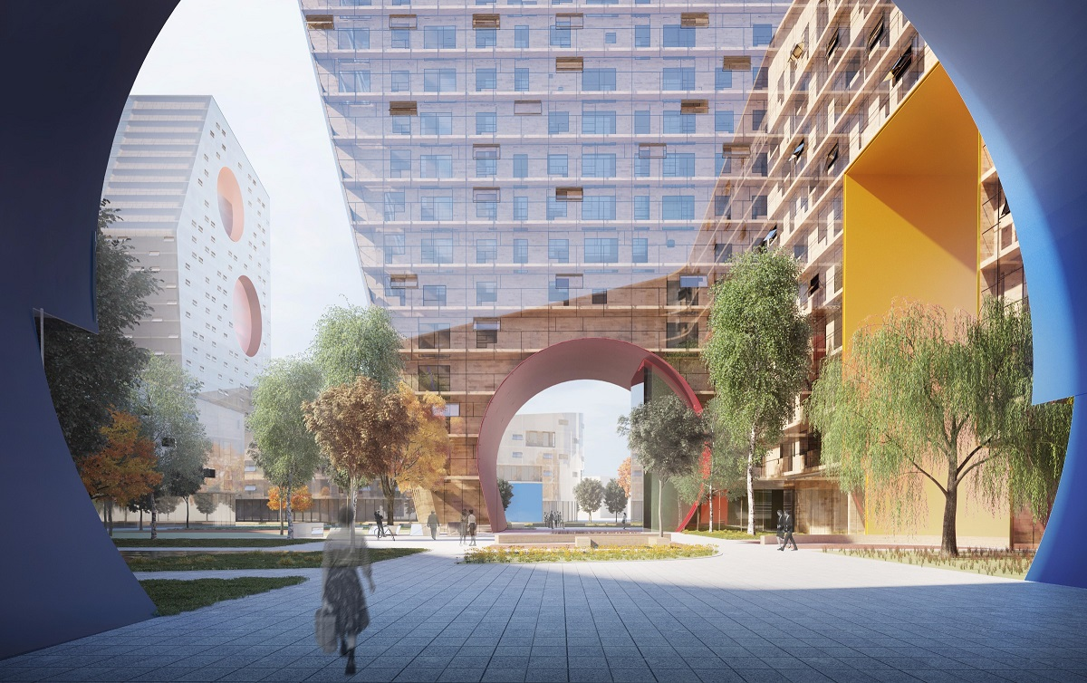 Tushino moscow building by steven holl architects e for U of a architecture building