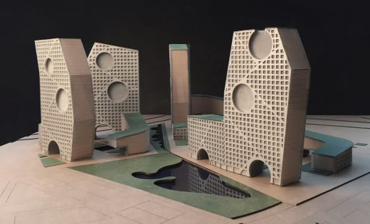 Tushino Moscow model by Steven Holl architect